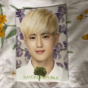 EXO Suho Nature Republic Unlined Notebook - NWOT